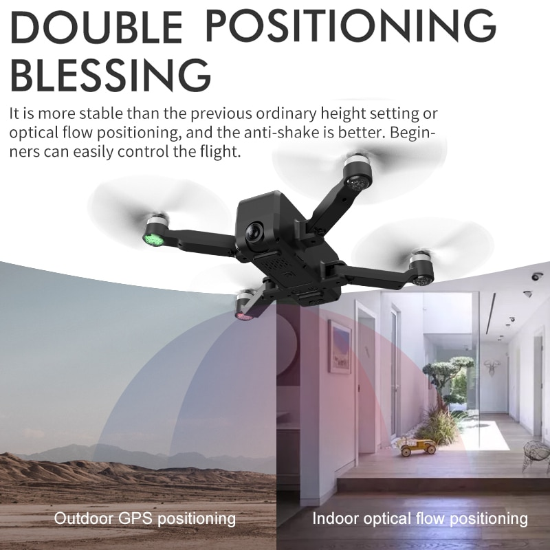 2021 NEW W13 Drone GPS FPV Professional BrushlessMotor  Foldable 4K HD Dual Camera Quadcopter RC Drones Toys Gift Children enlarge