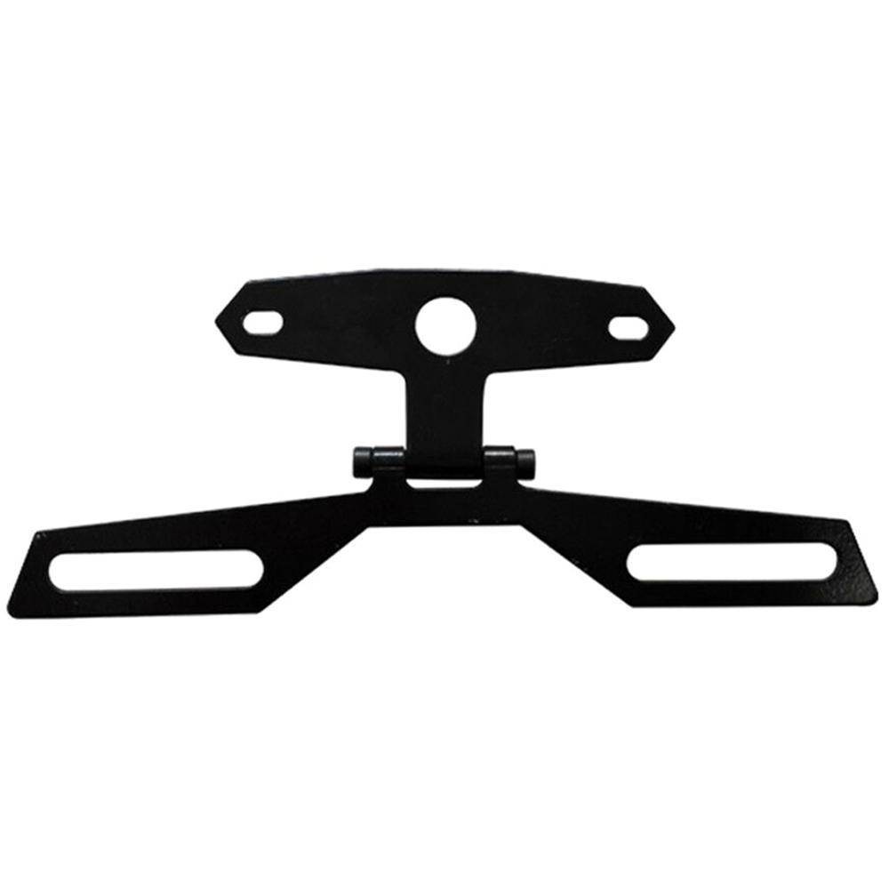 Universal liga de alumínio da motocicleta folding placa de licença luz da cauda suporte luz traseira suporte montagem ajustável