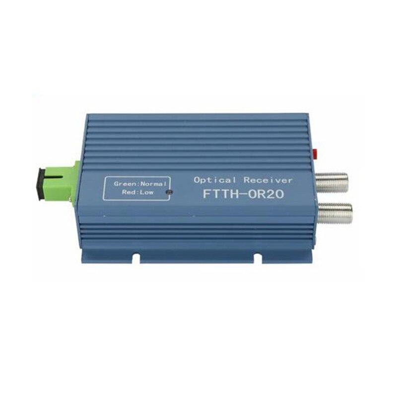 CATV receptor FTTH AGC Micro SC APC conector simple con 2 puerto de salida WDM dúplex para PON OR20 CATV receptor de fibra óptica