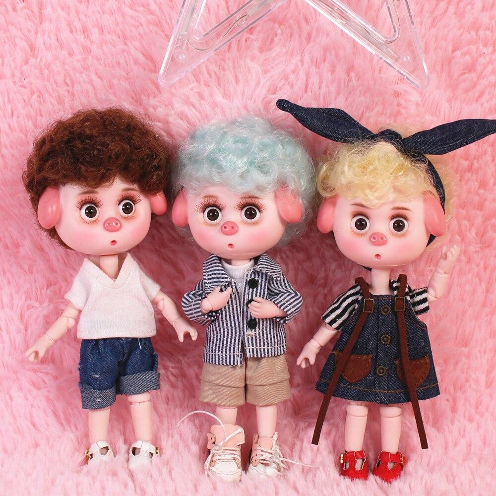 Dream Fairy 1/12 BJD DODO Pigies Doll with hair 14cm mini doll 26 joint body Cute children gift toy ob11