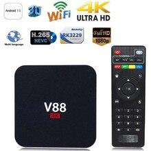 Home Theater V88 Rk3229 Smart Tv Set-top Box Player 4k Quad-core 8gb Wifi Media Player Tv Box Smart