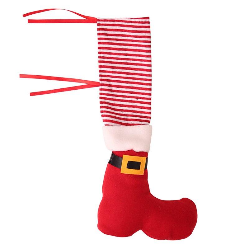 4X Christmas Chair Table Desk Leg Foot Boots Cover Ornament Santa Xmas Party