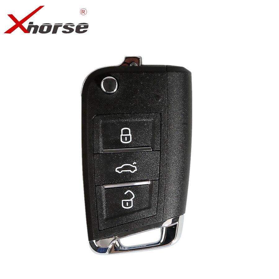 Xhorse Para VW MQB Estilo Chave 3 Botões XKMQB1EN 10 pçs/lote