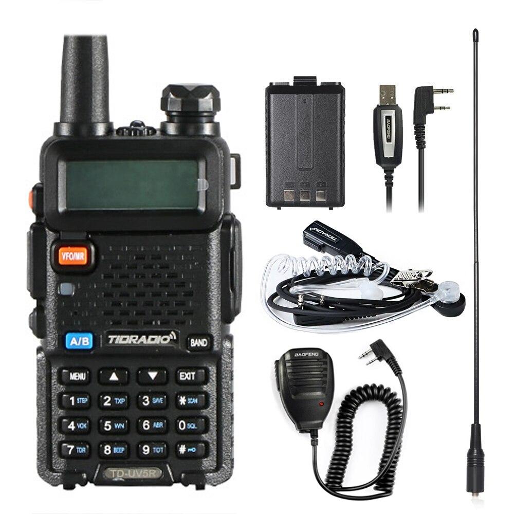 Walkie Talkie Td UV5R Stazioni Radio Vhf Uhf 136-174 Mhz & 400-520 Mhz Professionale Portatile Walkie -Talkie Uv5r