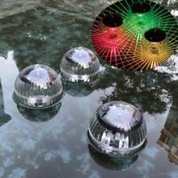 Крутая креативная лампа на солнечной батарее плавающий по воде мяч, уличный светодиодный светильник, меняющий цвет, декоративсветильник ще...