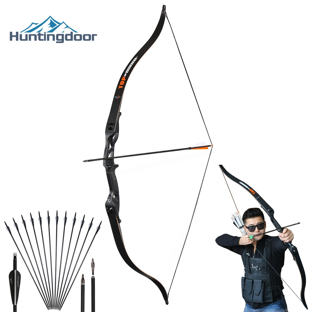 Hunting Recurve Bow Professional Archery Hunting Bow Right Hand 30-50 lbs Metal Riser Training Shooting Outdoor Take Down Bow