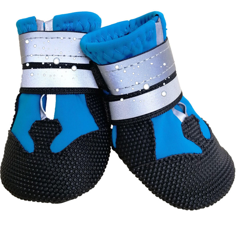 Para Mascotas zapatos para perros de primavera cálido reflectante antideslizante botas resistente...