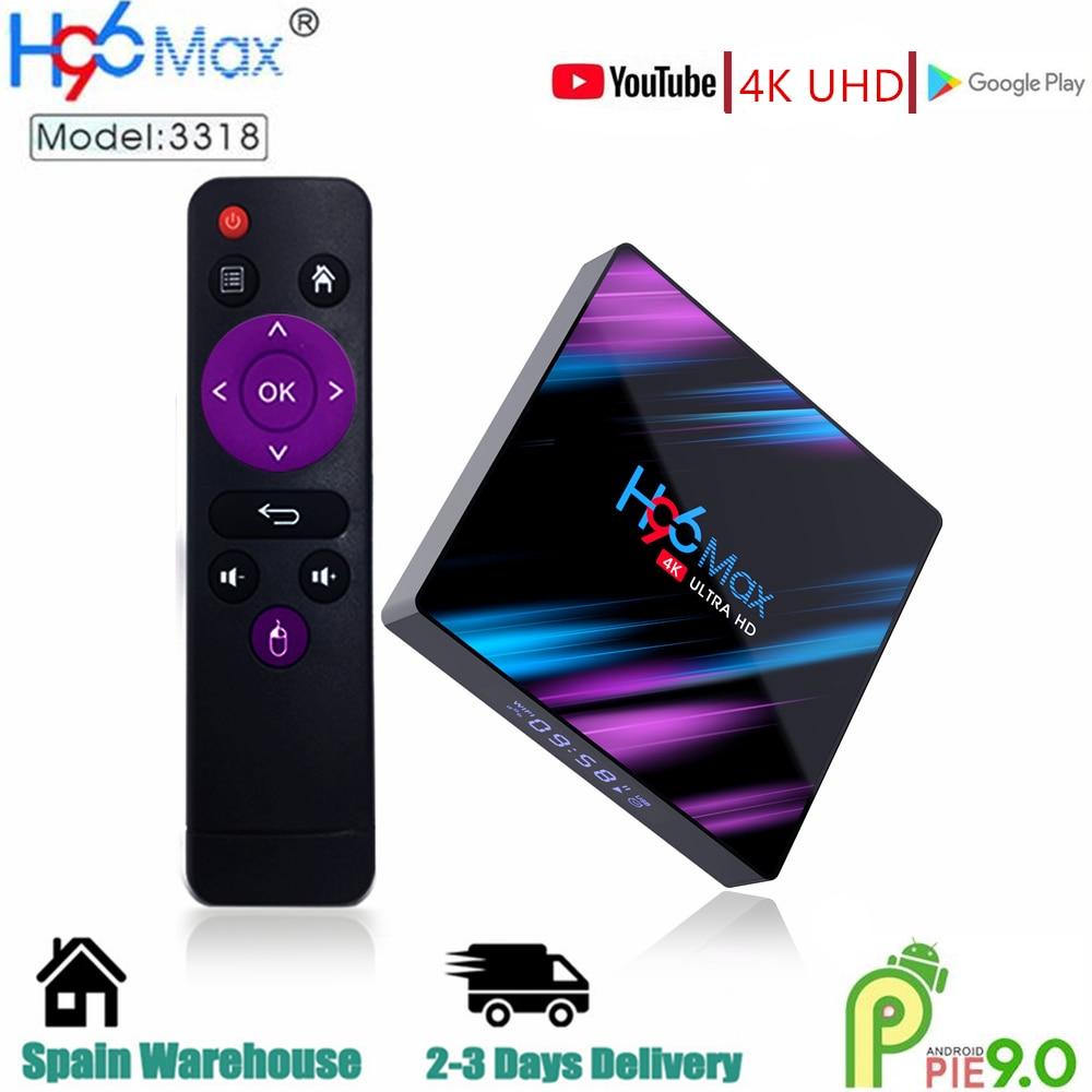 H96 ماكس RK3318 مربع التلفزيون الذكية الروبوت 9 9.0 4GB 32GB 64GB 4K يوتيوب مشغل الوسائط H96MAX TVBOX تي في بوكس أندرويد مجموعة أعلى مربع 2GB16GB