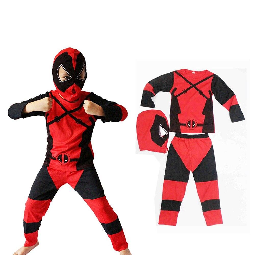 Crianças traje muscular ben the incredibles deadpool cosplay traje de halloween traje para o menino festa conjunto de roupas cosplay