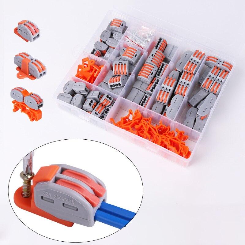 70 Uds Cable de Tipo de carril Conector rápido Cable de iluminación...