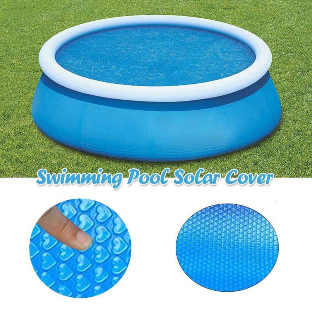 Cubierta Solar de piscina 12ft 10ft 15ft cubierta redonda de piscina Solar cubierta de bañera de piscina accesorios para manta de burbujas al aire libre