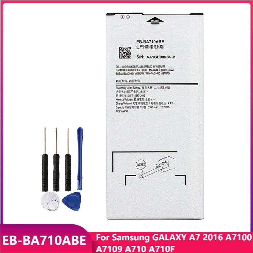 Оригинальная Аккумуляторная батарея для телефона Samsung GALAXY A7 2016 A7100 A7109 A710 A710F, сменные аккумуляторные батареи 3300 мАч