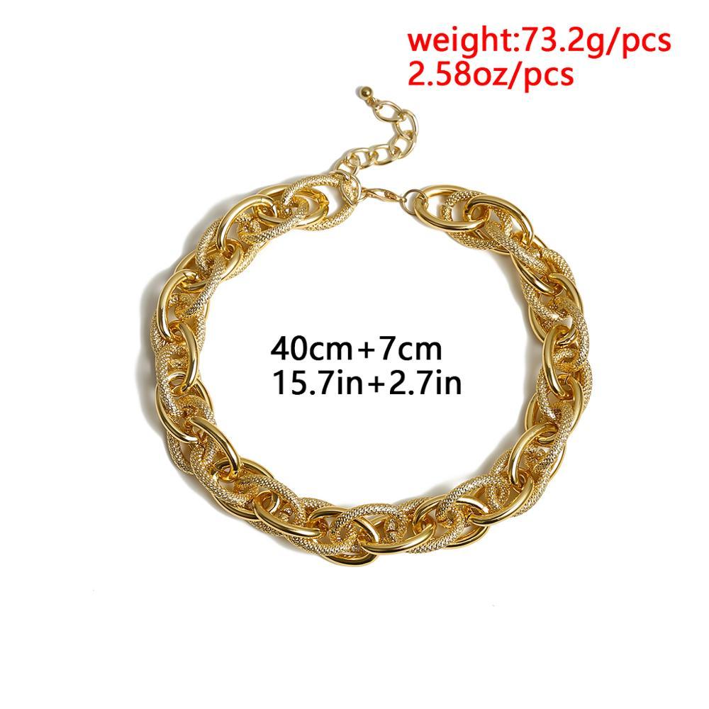 Купить с кэшбэком High Quality Punk Lock Choker Necklace Pendant Women Collar Statement Brand Gold Color Chunky Thick Chain Necklace Steampunk Men