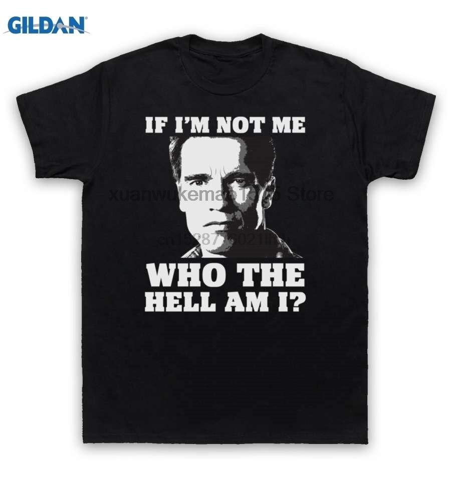 100% de algodón estampada de cuello redondo Camiseta Total recordar T camisa si no estoy Me ¿quién demonios soy yo