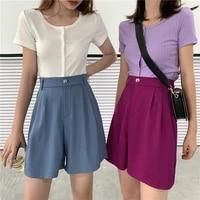 fashion high waist women shorts casual harajuku loose pockets 2021 spring summer bottom