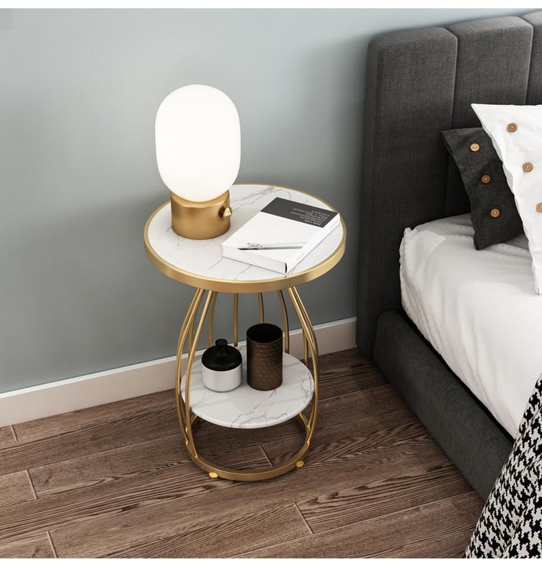 Роскошный кофейный столик из твердого мрамора и железа, скандинавский простой прикроватный столик, прикроватный столик без лака zmebel прикроватный столик amnesia