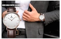 homme ik colouring male quartz watch super slim japan movement stainless steel case leather strap men waterproof 30 atm clock