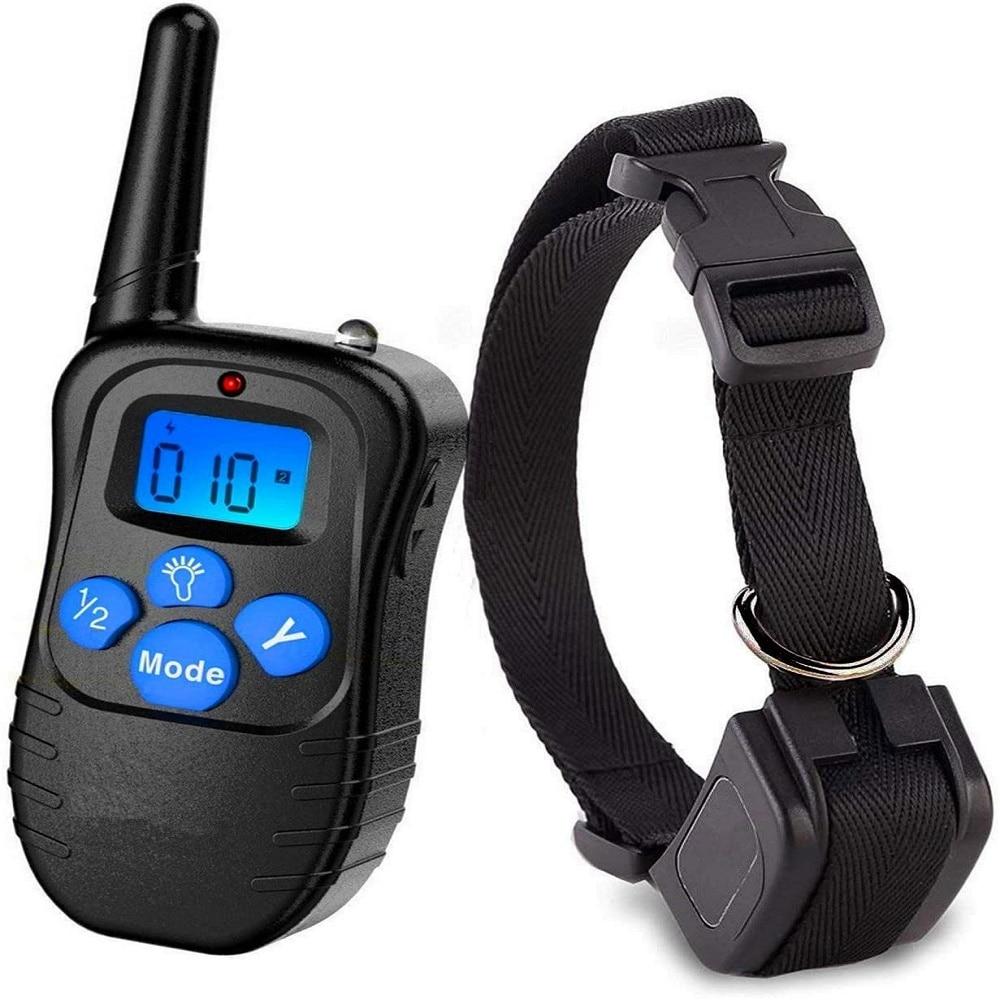 Collar De Perro Collar choque eléctrico Adiestramiento Perro eléctrico Para Collier Anti...