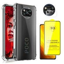 Чехол для телефона POCO X 3 M3 чехол+стекло Xiaomi POCO X3 M 3 Противоударная чехлы Pocophone F2 PRO little X3 NFC 2020 X 3