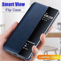 Умный чехол-книжка для Huawei P40 P20 P30 Pro Mate 20 10 9 Lite P10 Plus Honor 20 Pro 10 9 Lite 9X 8X P Smart 2019, чехол