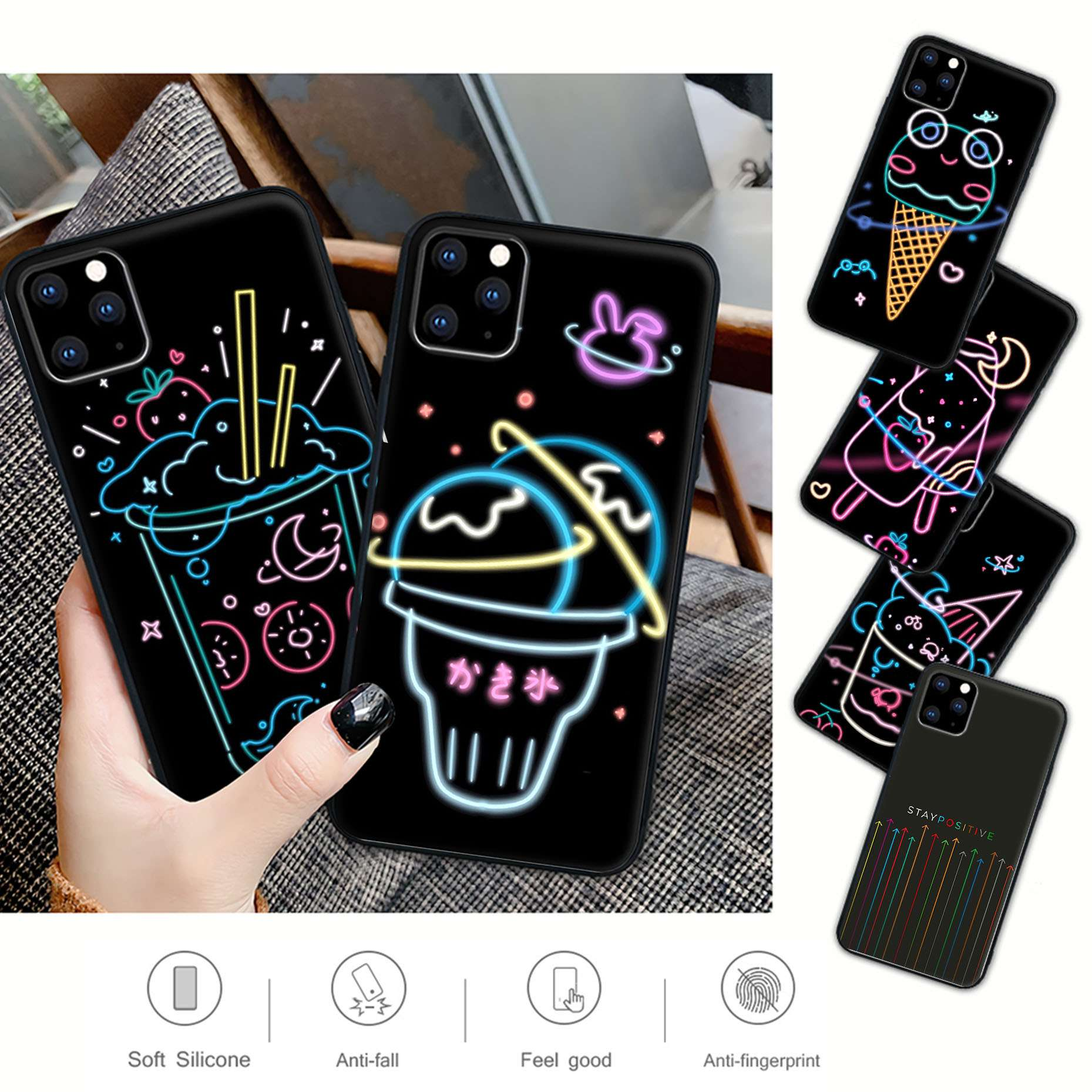 Nice Candy Colored Summer Soda Ice Cream Phone Case For Huawei P9 P10 P20 P30 P40 Pro Lite P Smart C
