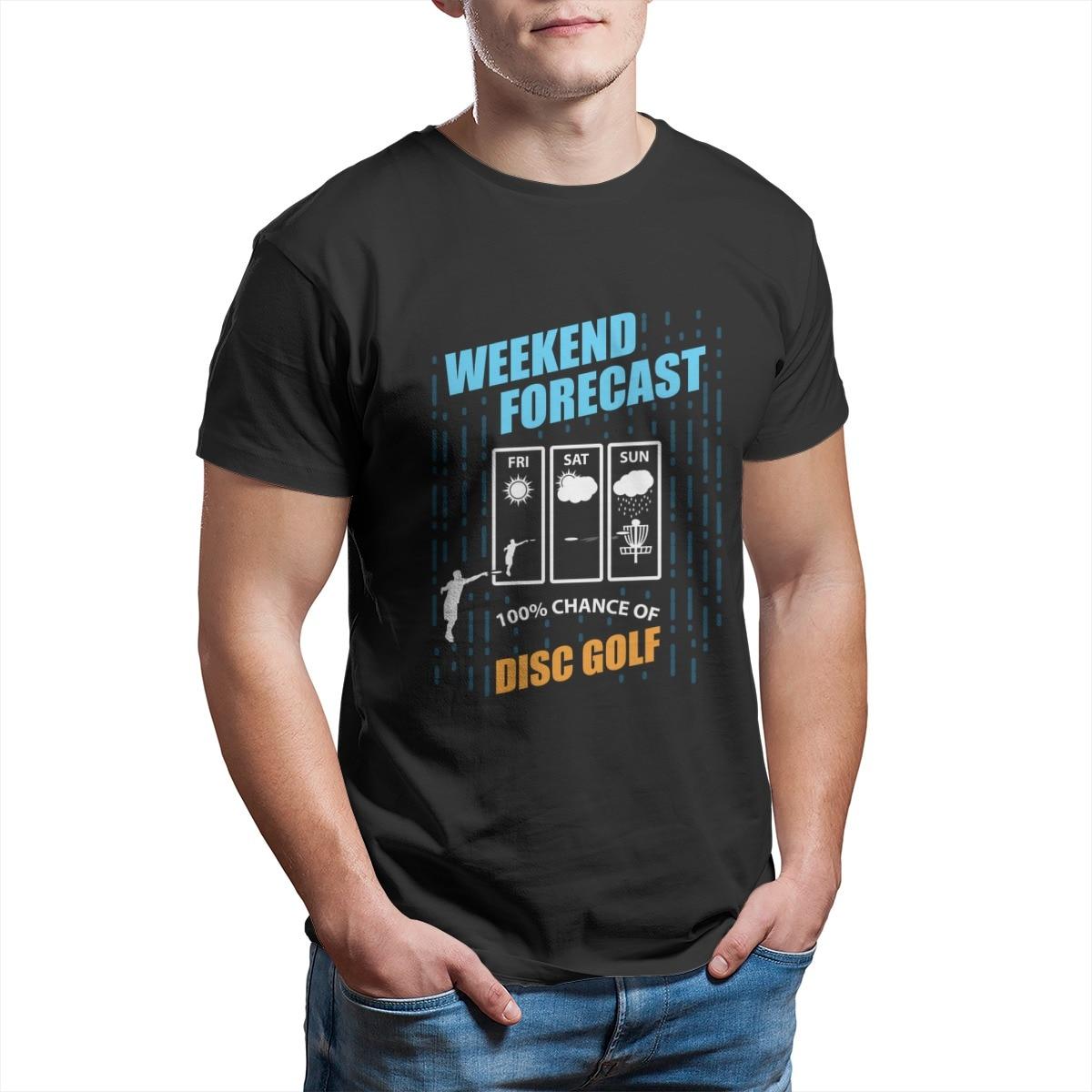 Previsão do fim de semana 100% chance de disco golfe roupas por atacado bonito natal manga streetwear topos camisetas 6519
