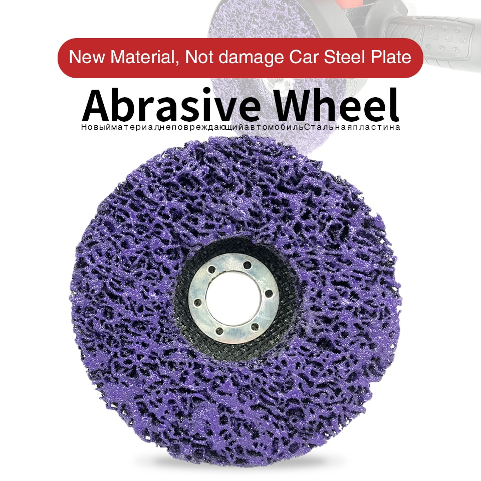 Removedor de pintura y óxido de rueda abrasiva de disco de tiras de polietileno, muelas abrasivas limpias para amoladora angular