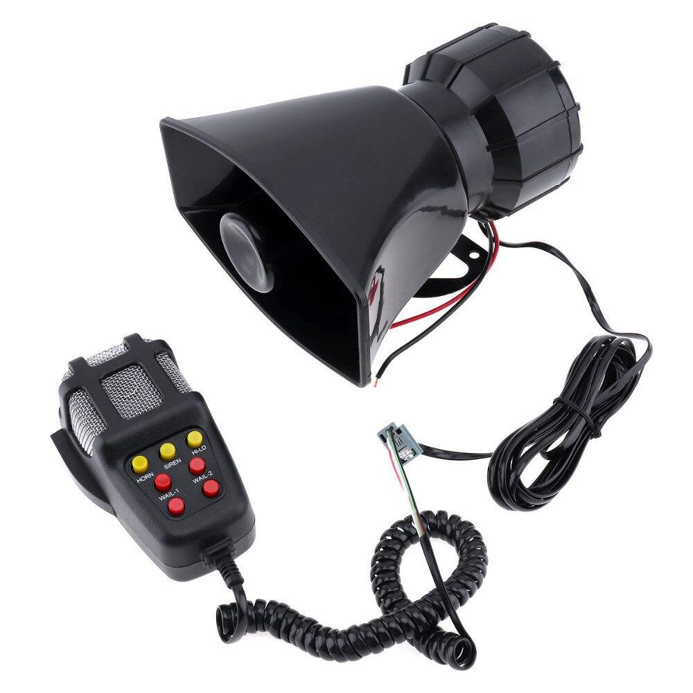 Som do som do carro sirene de emergência buzina mic pa sistema de alto-falante amplificador de emergência hooter 12v 100w