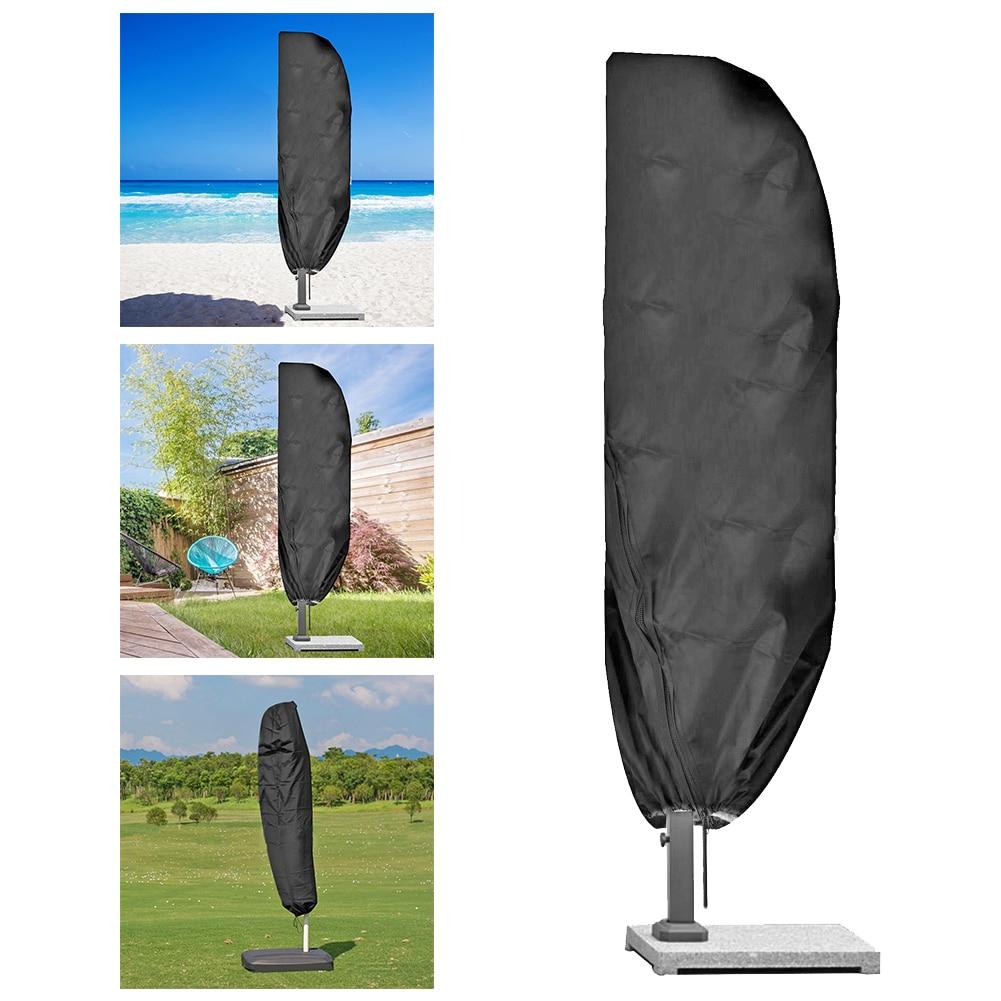 Protección UV Banana sombrilla cubierta Oxford tela sombra jardín exterior impermeable para fácil seguridad accesorios de juego