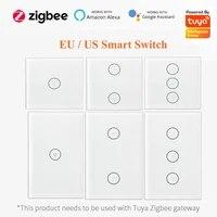 ZigBee     interrupteur intelligent avec sans fil neutre  deux fils  pour lautomatisation Tuya  fonctionne avec Alexa Google Home  EU US