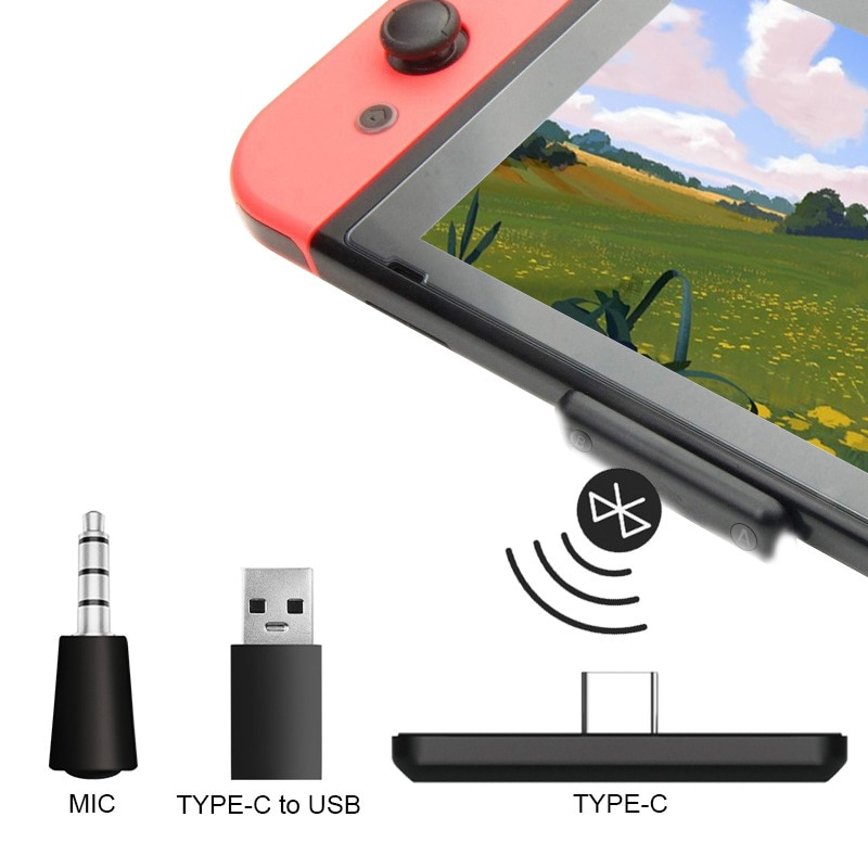 Converter For Switch Bluetooth Adapter Audio Receiver For PS4/PC Wireless Headset Transmitter For Nintendo Switch PS4