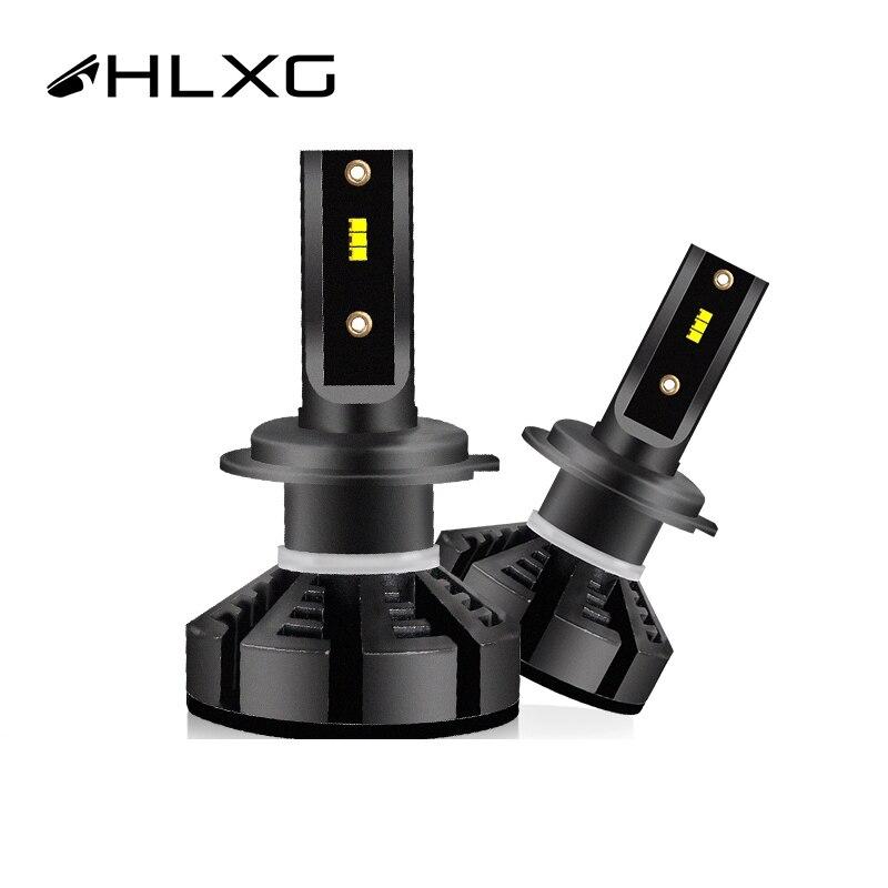 Hlxg H4 LED Auto H1 con ZES HB3 9005 9006 HB4 12000LM 9005 9006 72 W/Set LED Lampada bombilla H11 Luz de niebla H8 6500K H7 LED