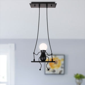 1/3 Heads Humanoid Creative pendant Light Indoor Modern Hanging Lamp Chandelies Art Decor E27 for Bedroom Children Room Kitchen
