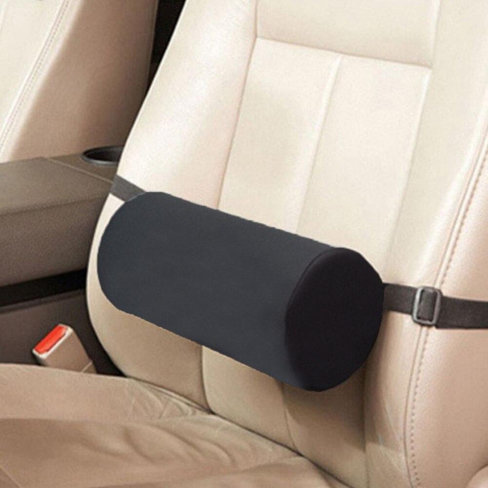 Hebilla ajustable Universal para asiento de coche, cilindro para el hogar, sillas de oficina negras ergonómicas, almohada de viaje con soporte Lumbar