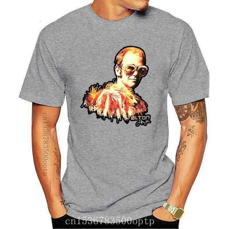 Design Elton John Big Glasses Classic Glam Black T Shirt 2021 OfficialCouple