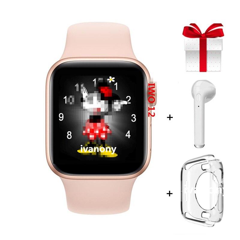 Reloj inteligente con auriculares serie 5 IWO 12 Smartwatch 40mm 44mm VS IWO 11 pro ver 5 corazón Monitor ECG reloj para Iphone