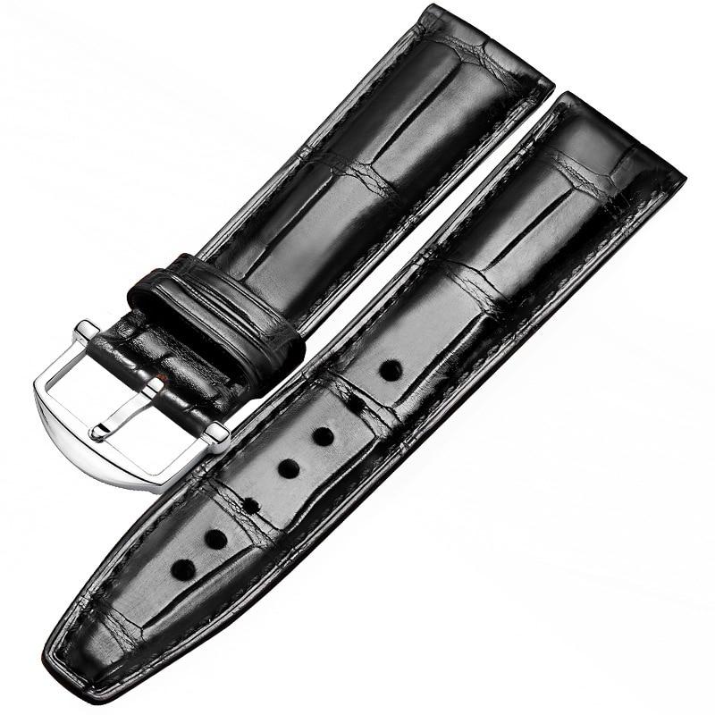 Crocodile leather slub pattern strap, leather men's generation IWC Portugal series pilot Portuguese 7-38