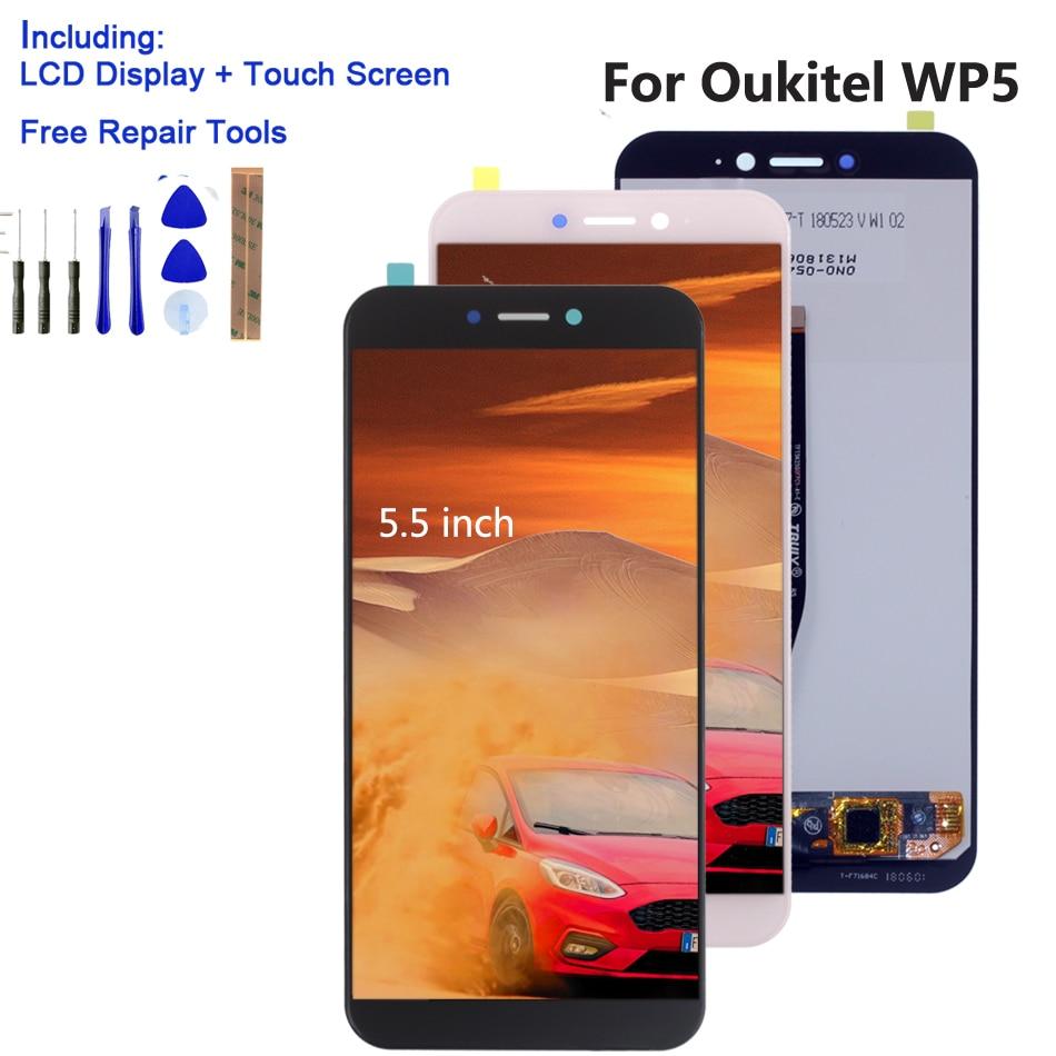ل Oukitel WP5 الأصلي شاشة الكريستال السائل مجموعة المحولات الرقمية لشاشة تعمل بلمس شاشات الكريستال السائل إصلاح ل Oukitel WP5