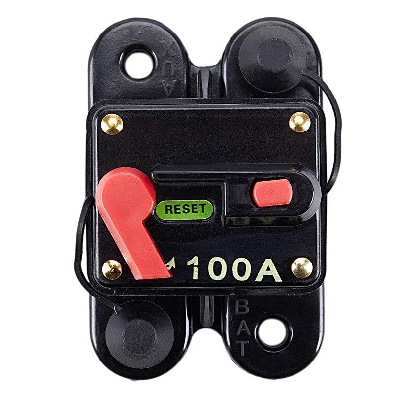 12 вольт автомобильный 100 Ампер автоматический выключатель со сбросом до 1000 Вт стерео