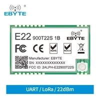 sx1262 e22 900t22s1b 915mhz smd uart wireless transmitter and receiver smd rf module rssi net working transceiver ipex antenna