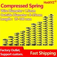 hotxyz 65mn cylidrical coil compression spring wire diameter 1 5mm rotor return compressed spring release pressure spring steel