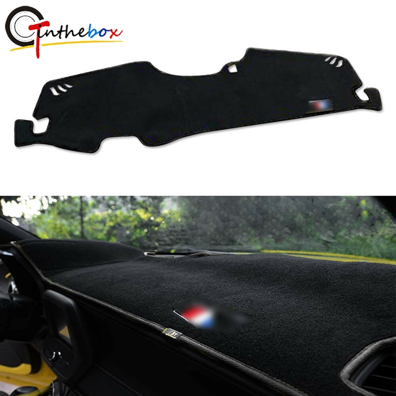 GTinthebox Preto Cover Dashboard Traço Mat Dashmat Fit Decor Para 2016-17 Chevrolet Camaro