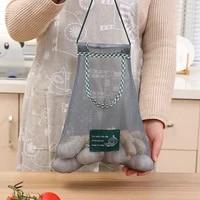 multifunction mesh tote bag ginger garlic onion bags reusable shopping grocery long handle fruit vegetable net storage sack