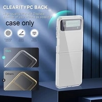 transparent case for samsung galaxy z flip3 case protective tpu explosion proof cover case shockproof pc four corner foldab x1z2
