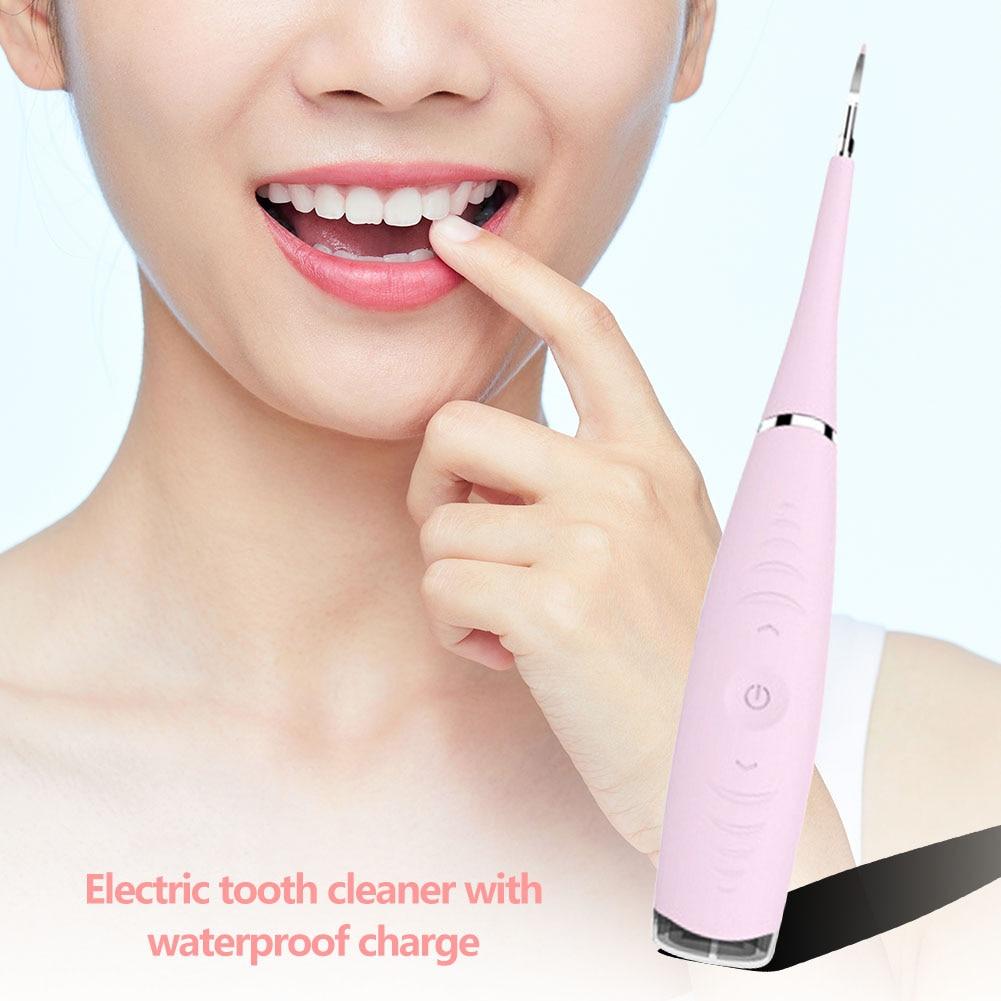 Портативный электрический зубной скалер, средство для удаления десен, инструмент для отбеливания зубов, гигиена для здоровья, розовый, зеленый