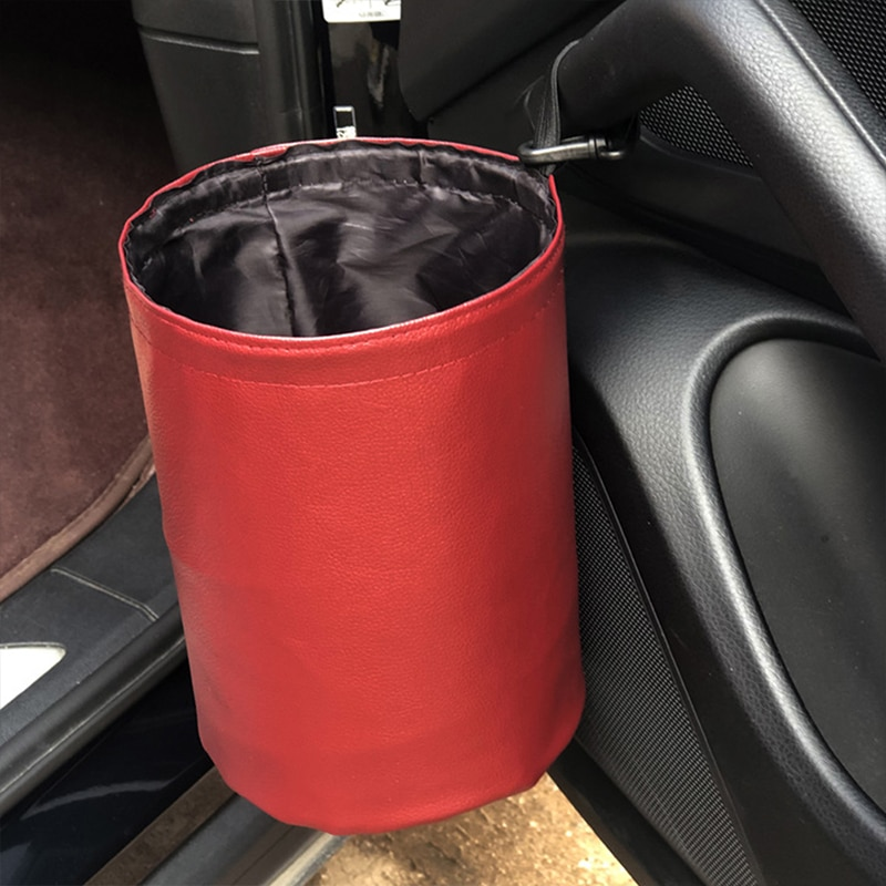 YOLU Universal Car Trash Can Foldable Storage Bag Dustbin Bucket Hanger Garbage Pocket Paper Trash B