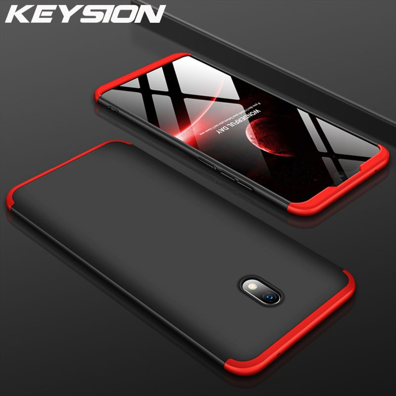 KEYSION 3 in 1 Case For Redmi Note 8 Pro 8 8A 7A 7 Shockproof hard PC Phone back Cover For Xiaomi Mi