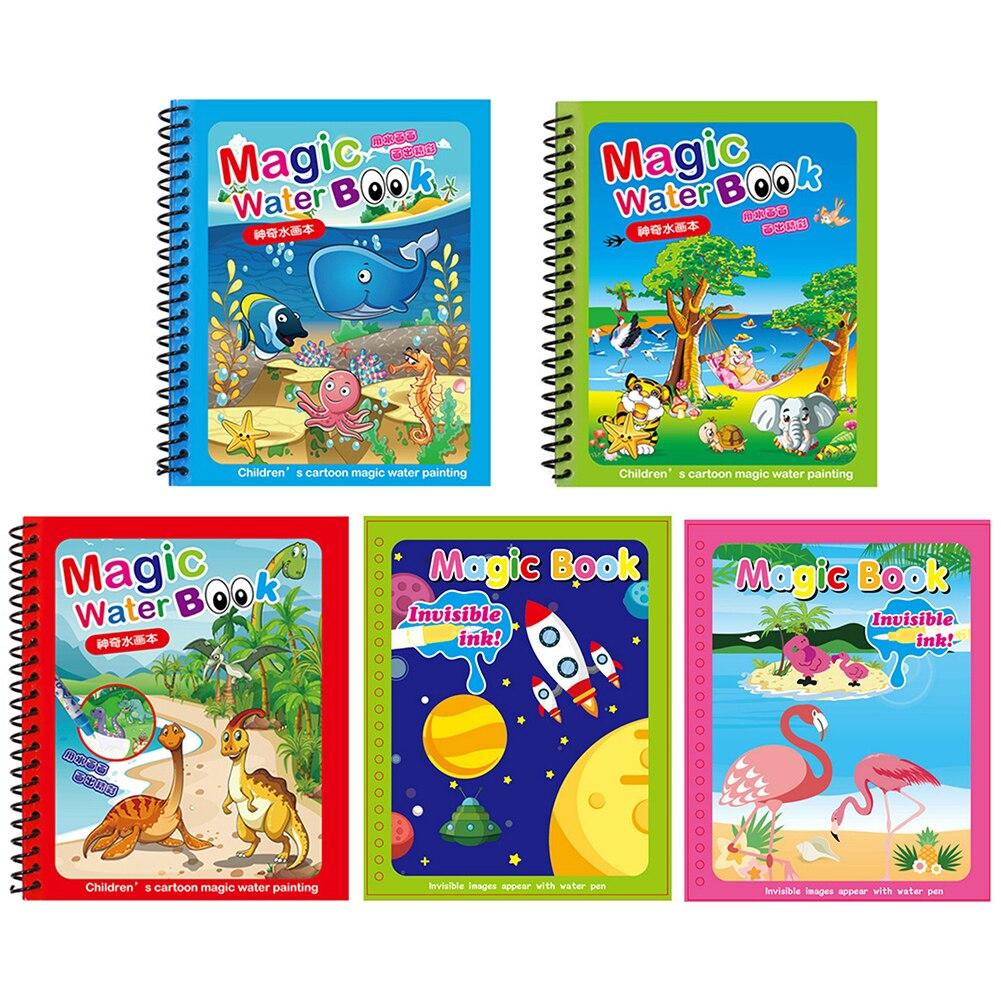 Dibujo mágico de agua reutilizable para niños, Libro de La Doodle Montessori,...
