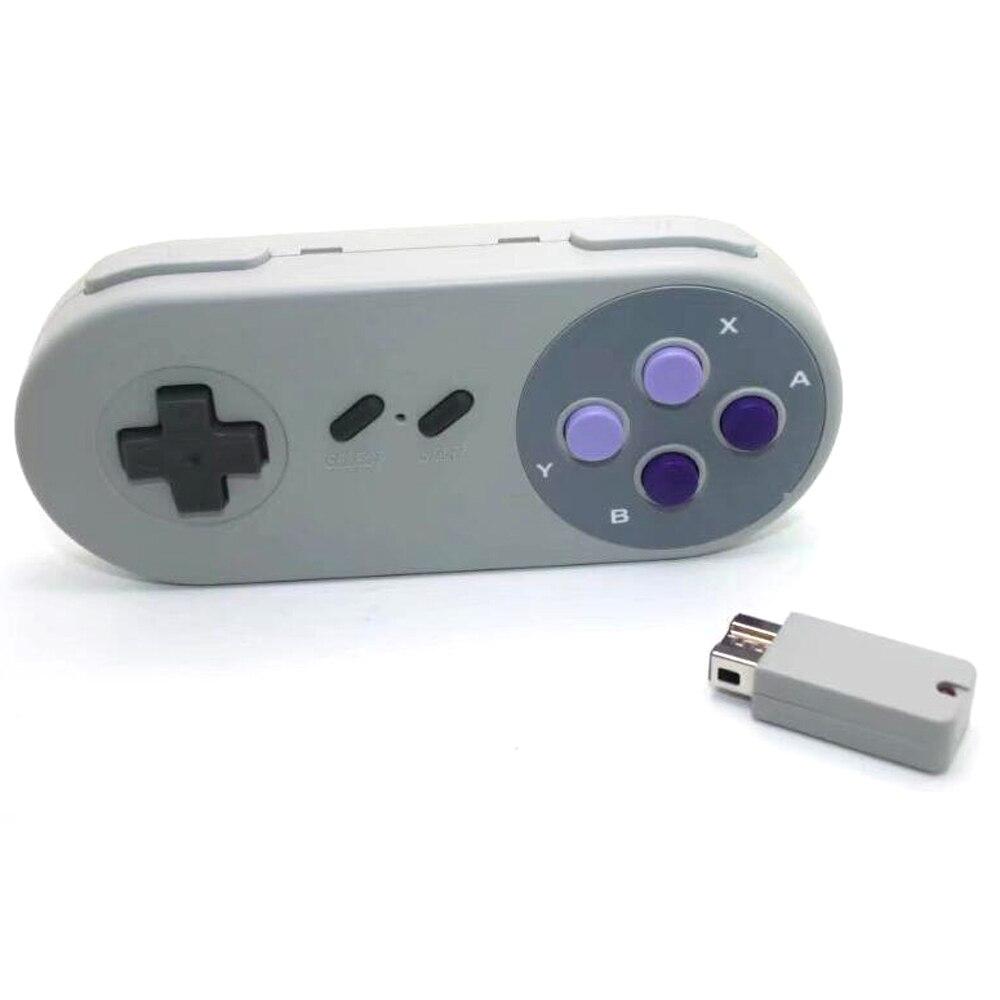 100 Uds Gamepads inalámbricos Joypad mando para SNES Super Nintendo MINI consola accesorios remotos
