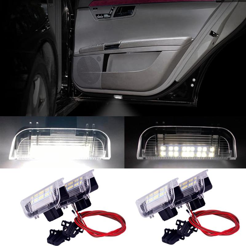 White LED Car Door Lights for Volkswagen VW Passat Scirocco Touareg Golf Polo Jetta Tiguan Door Courtesy Lamp Light Accessories